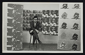 view Photograph of Roger Shimomura with works of art in gallery digital asset number 1