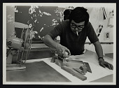 view Photograph of Roger Shimomura at work digital asset number 1