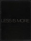 view Less is More (April 7-May 7) digital asset: Less is More (April 7-May 7)