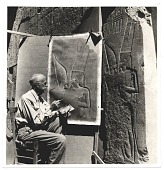 view Joseph Lindon Smith reproducing an Egyptian bas relief digital asset number 1