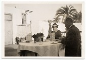 view Joseph Lindon Smith dining outdoors digital asset number 1