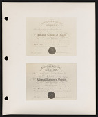 view Photograph of National Academy of Design certificates of George Inness, Jr. digital asset number 1