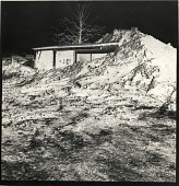 view Negative of partially buried woodshed, Kent State University in Kent, Ohio digital asset number 1