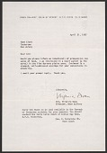 view Virginia Dwan, New York, New York letter to town clerk, Tuckerton, New Jersey digital asset number 1