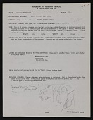 view American Art Research Council form for <em>Drawing</em>, 1913 by Arthur Dove digital asset number 1