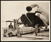 view United States Air Force unloading of art from a plane digital asset number 1