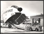 view U.S. Air Force unloading of art from a plane for the 32nd Venice Biennale digital asset number 1