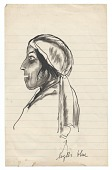 view <em>Woman wearing head scarf</em> digital asset number 1