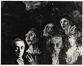 view Moses Soyer with his painting digital asset number 1