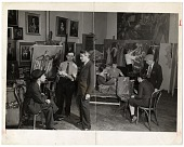 view Moses Soyer and others in his studio digital asset number 1