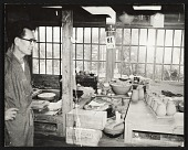view Japanese potter in his studio digital asset number 1