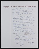 view Beatrice Wood letter to Elizabeth Stein digital asset number 1