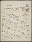 view Marsden Hartley, Bangor, Me. letter to Helen Stein, East Gloucester, Mass. digital asset number 1