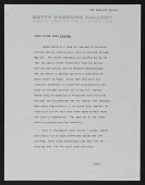 view Betty Parsons Gallery, Everyone (1970), Press Release digital asset: Betty Parsons Gallery, Everyone (1970), Press Release: 1970
