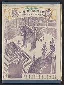 view <em>A midsommer night's dream</em> by Will Shakspeer, abridged and presented in block print by D.N.S. digital asset: cover