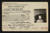 view United States War Relocation Authority Citizen's Indefinite Leave identification card for Kay Sekimachi digital asset number 1