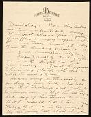 view John Henry Bradley Storrs letter to Marguerite Deville Chabrol Storrs digital asset number 1