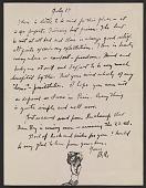 view Berenice Abbott letter to John Henry Bradley Storrs digital asset number 1