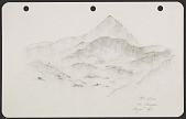 view George Stout sketch of Mt. Athos from Karyas digital asset number 1
