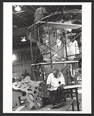 view Photograph of George Sugarman working on his <em>Baltimore Federal</em> sculpture digital asset number 1