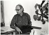 view George Sugarman working in his studio digital asset number 1