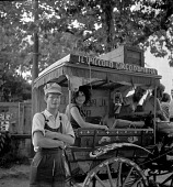 view Red Grooms and Mimi Gross with their puppet wagon digital asset number 1