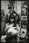 view Photograph of Paul Suttman with wife Elisse and their cat digital asset number 1