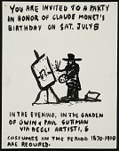 view Invitation to a party in honor of Claude Monet's birthday digital asset number 1