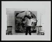 view Photograph of Robert Indiana with <em>Decade Autoportrait 1969 (72 in.)</em> digital asset number 1