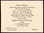 view Brooke Shields invitation to Toshiko Takaezu digital asset number 1