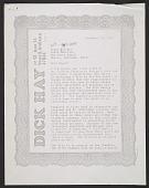 view Dick Hay letter to Roger Slicker digital asset number 1