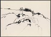 view Maine landscape sketch digital asset number 1