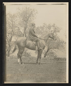 view Photograph of Edmund A. Tarbell on Eaglet, his horse, in New Castle, New Hampshire digital asset number 1