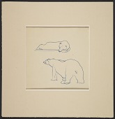 view Polly Thayer sketch of polar bears digital asset number 1