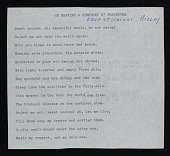 "view Typescript of poem ""On Hearing a Symphony of Beethoven"" by Edna St. Vincent Millay digital asset number 1"