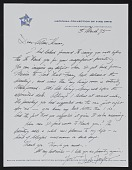 view Joshua Taylor letter to Alma Thomas digital asset: page 1