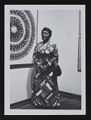 view Photograph of Alma Thomas at Whitney Museum of American Art exhibition opening digital asset number 1