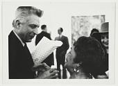 view Photograph of Alma Thomas and unidentified man at the Whitney Museum of American Art digital asset number 1