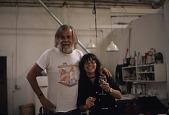 view John Baldessari and Morgan Thomas in Baldessari's studio digital asset number 1