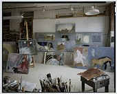 view Color transparency of Mary Frank's studio, New York City digital asset number 1