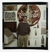 view Color transparency of William Christenberry in his Washington, DC studio digital asset number 1