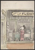view Watercolor sketch of a storefront digital asset number 1