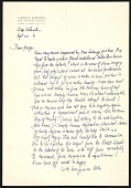 view Lincoln Kirstein letter to George Tooker digital asset number 1