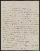 view Charles Ephraim Burchfield letter to Paul B. Travis digital asset number 1