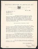 view Juliana Force, New York, N.Y. letter to Herman Trunk, Brooklyn, N.Y. digital asset number 1