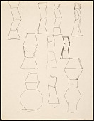 view Sketches of pot for the Hand and Spirit Gallery digital asset number 1