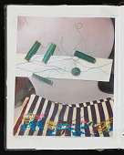 view Pages from a bound volume with notes, sketches, and ideas for art projects digital asset number 1