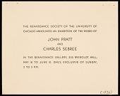 view John Pratt and Charles Sebree exhibition announcement digital asset number 1