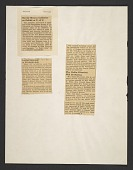 view Page of clippings related to an exhibition of manuscripts and letters by English and American poets digital asset number 1