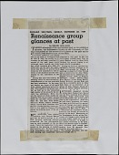 "view Clipping of ""Renaissance group glances at past,"" <em>Chicago Sun-Times</em> digital asset number 1"